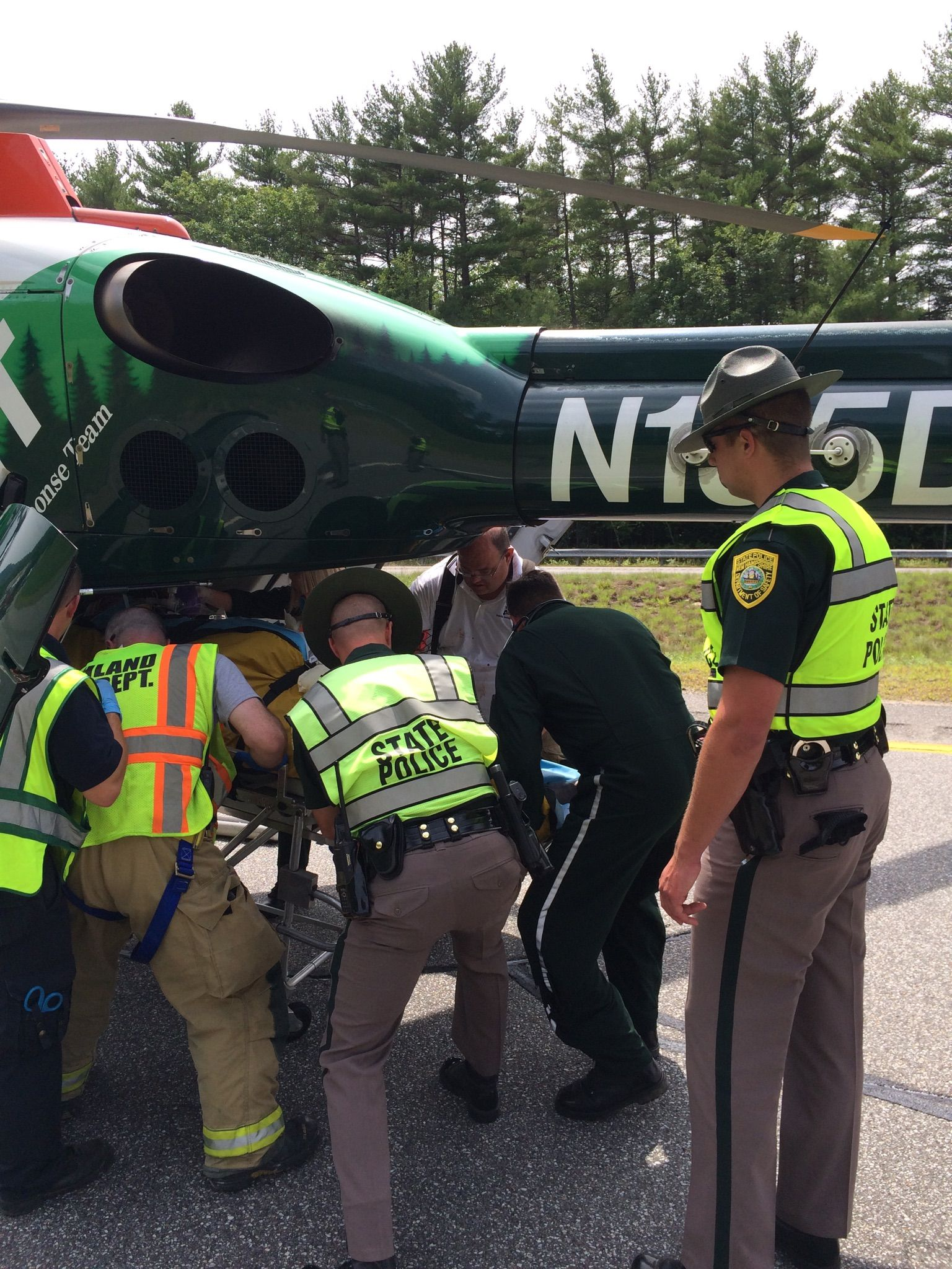Motorcycle Crash Victim Air Lifted to DHMC | WNTK Breaking News