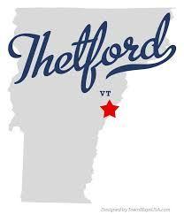 thetford VT map
