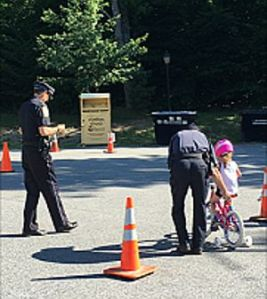 Sunapee Officers at Bike Rodeo